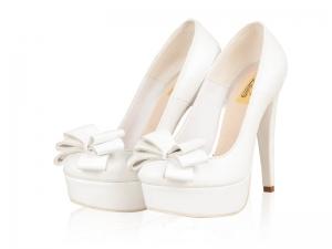 Pantofi mireasa- P05N White