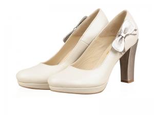 Pantofi Mireasa-P27N White Silver