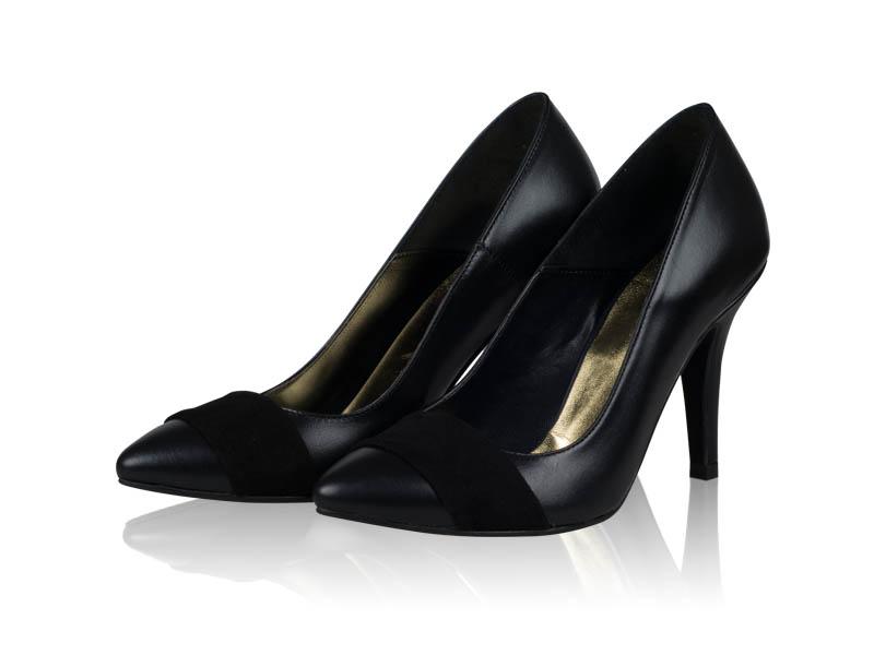 Pantofi dama-P01N  Black Velvet