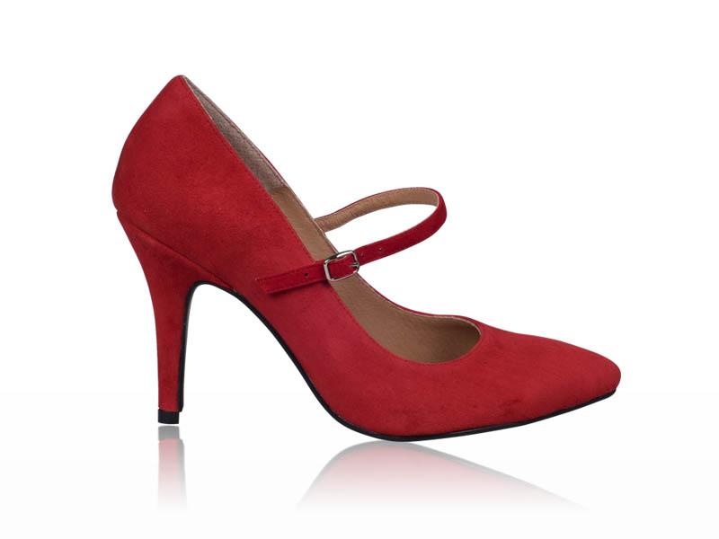 Pantofi dama- P01N Rosu cu bareta