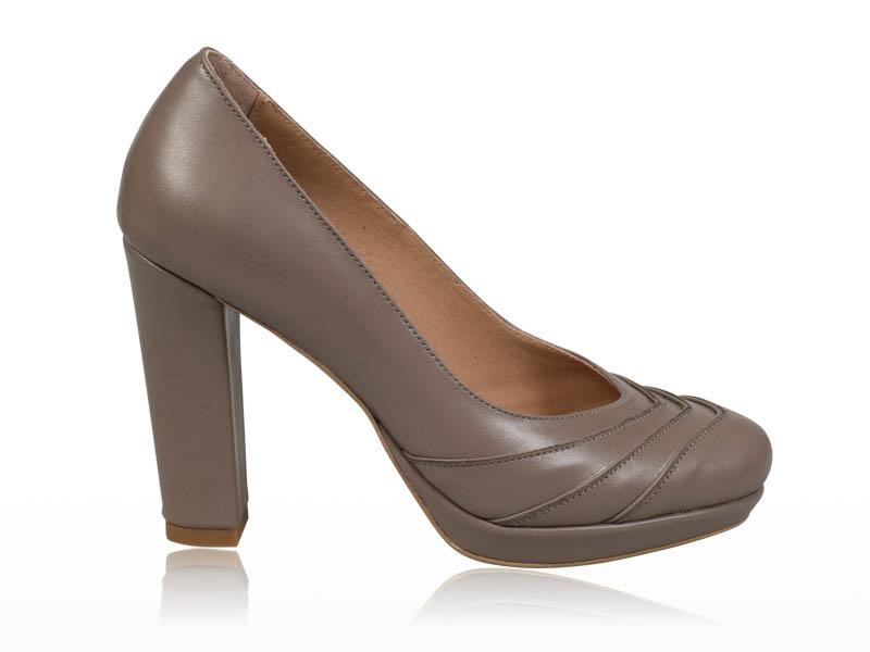 Pantofi dama- P46N Cappuccino Glace