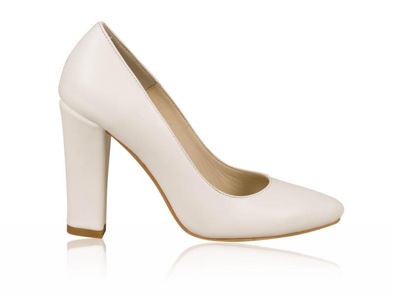 Pantofi mireasa White Stilleto